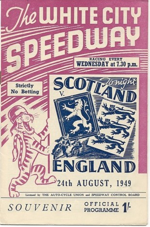 Scot v Eng 1949 Glasgow WC