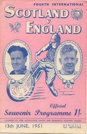Scot v Eng 1951 Glasgow WC
