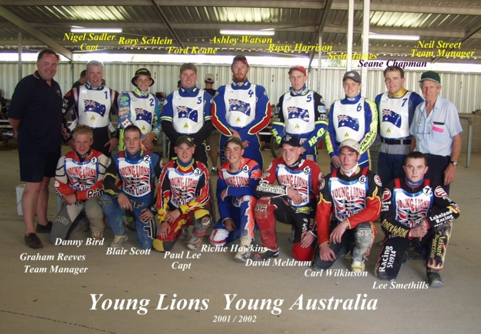 Yng Aus & Yng GB Teams 2001